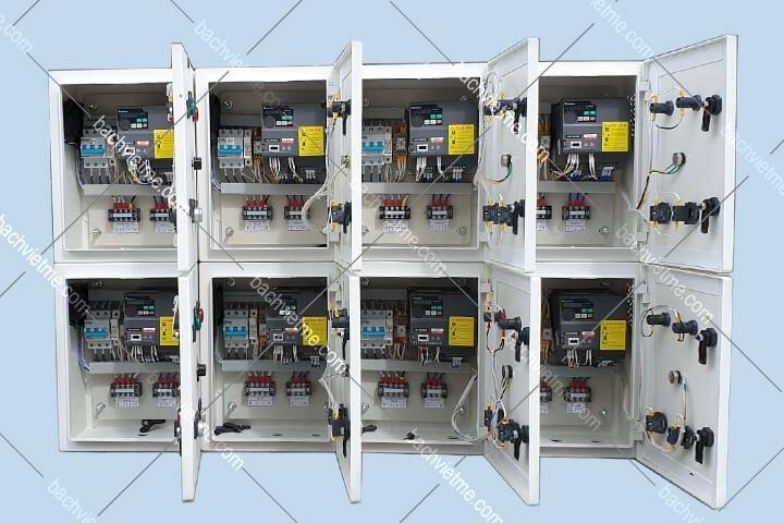 Tủ biến tần Shihlin điều khiển quạt tôm